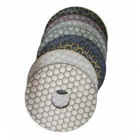 Set de pads diamantés en résine (ponçage à sec) - Ø 125 mm