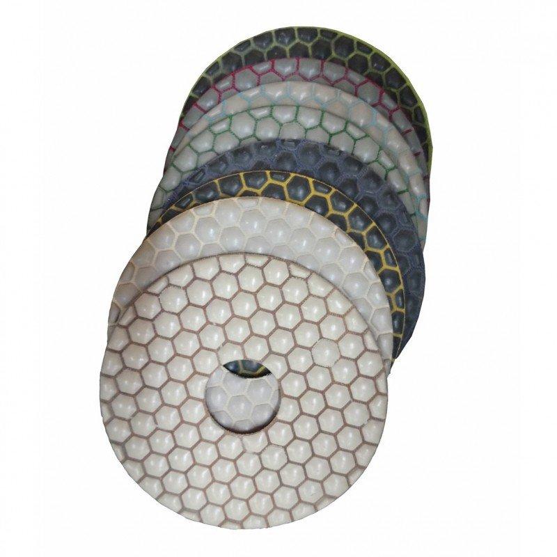 Set de pads diamantés en résine - Ø 125 mm