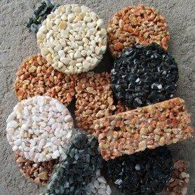 Echantillon de tapis de pierre