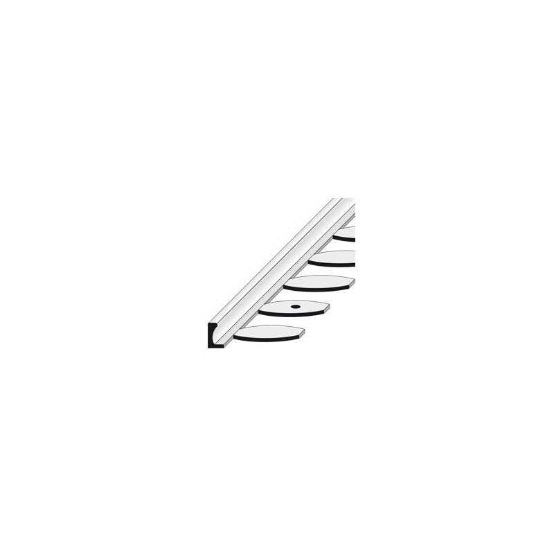 Profilé de finition cintrable en aluminium