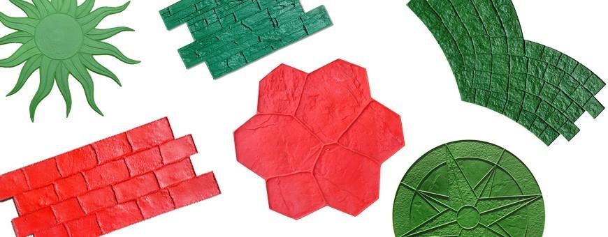 Empreintes ou moules pour la réalisation d'un Béton Imprimé