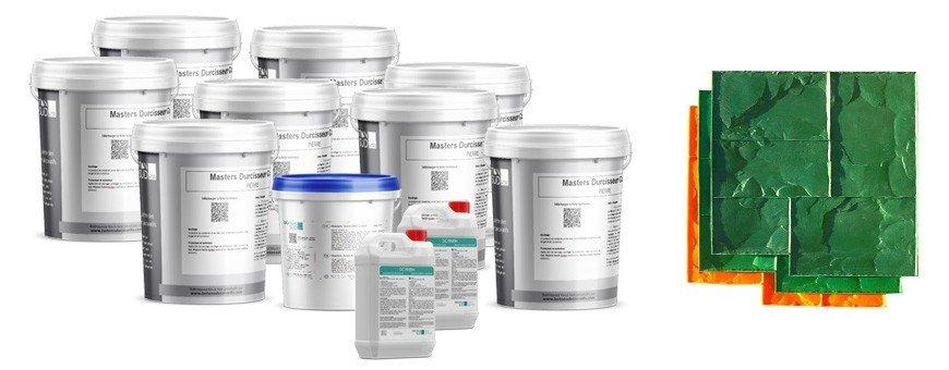 Kits complets pour Béton Imprimé pour des surfaces de 25, 50, 75 et 100m²